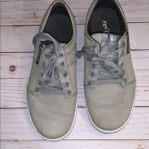 Supra Gray Canvas Shoes Size 7